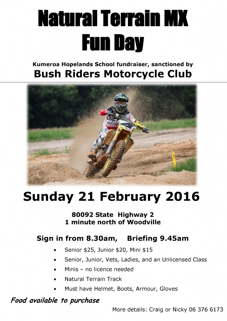 Natural Terrain MX Fun Day Flyer